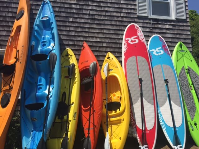 kayaks and paddleboards
